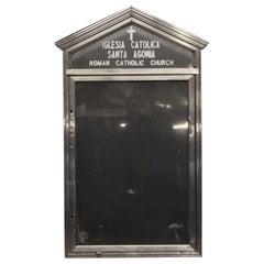 1960s Aluminum Church Message Board