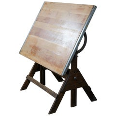 1960s Anco Bilt Industrial Architectural Drawing Table Adjustable Drafting Desk