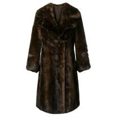 1960s A.N.G.E.L.O. Vintage Cult Mink Fur Coat