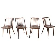 1960s Antonin Suman Beech Dining Chairs, Set of 6