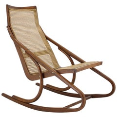 1960s Antonin Suman Bentwood Rocking Chair, Czechoslovakia