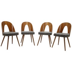 1960s Antonin Suman Set of Four Dining Chairs, Czechoslovakia