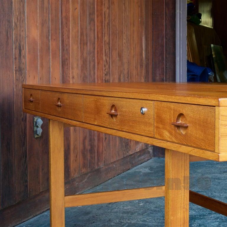 1960s Architect Table Lovig Flip-Top Teak Partners Desk Scandinavian Midcentury For Sale 3