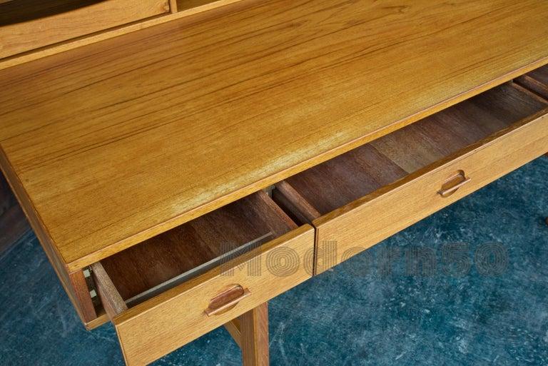 1960s Architect Table Lovig Flip-Top Teak Partners Desk Scandinavian Midcentury For Sale 4