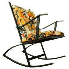 1960s Architectural Design Art Rocking Chair after Fredrik Kayser