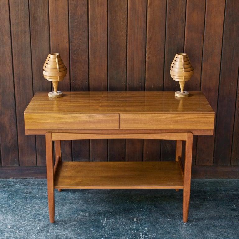 1960s Architectural Jaktstuga Pinewood Bedside Table Lamps Lanterns Chalet Lodge For Sale 1