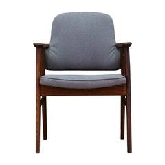 1960s Armchair Teak Vintage Danish Design Gray Vintage