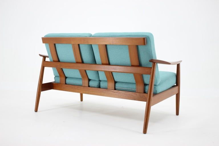 1960s Arne Vodder 2-Seat Sofa for France & Søn, Denmark In Good Condition In Praha, CZ