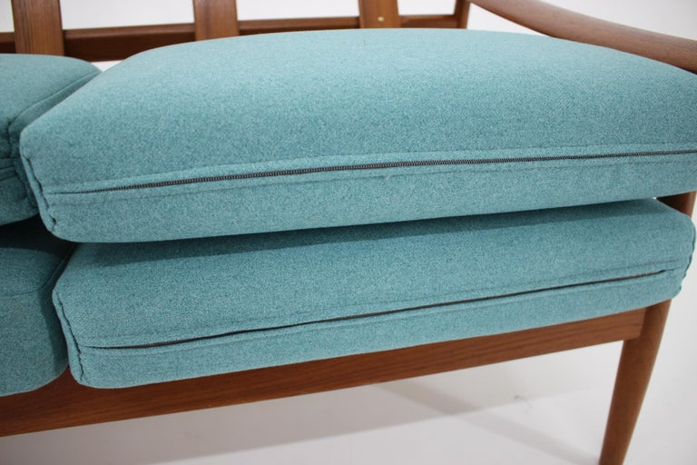 Fabric 1960s Arne Vodder 2-Seat Sofa for France & Søn, Denmark