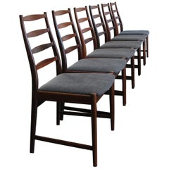 1960s Arne Vodder Mid-Century Modern Scandinavian Rosewood Dining Chairs