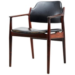 1960s Arne Vodder Rosewood Armchairs by Sibast Møbler Inc Re-Upholstery