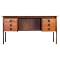 1960s Arne Vodder Rosewood Writing Desk for Sibast