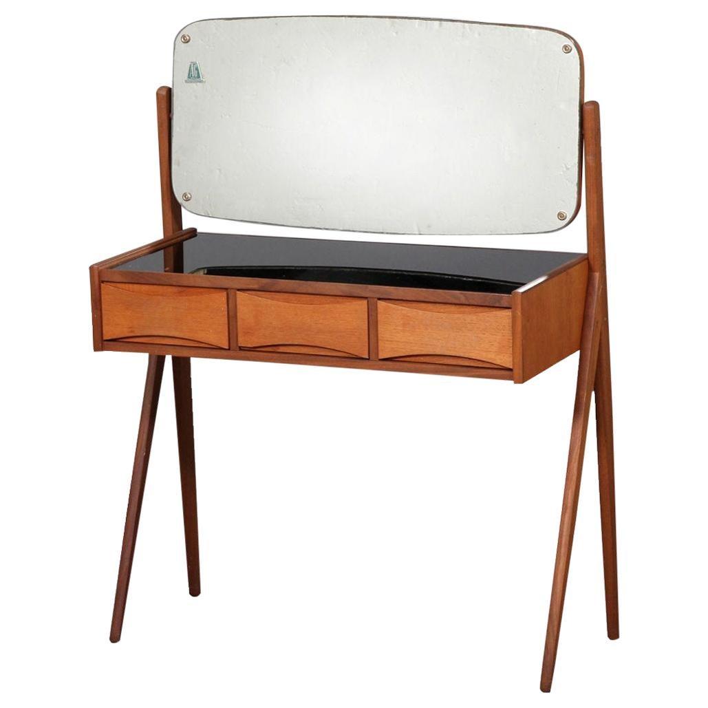 1960s Arne Vodder Teak Dressing Table by Oelholm Moebelfabrik