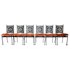 1960s Arthur Umanoff Mayan Collection Dining Chair Set of 6