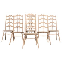 1960s Arts & Crafts Dining Chairs, Set of 6