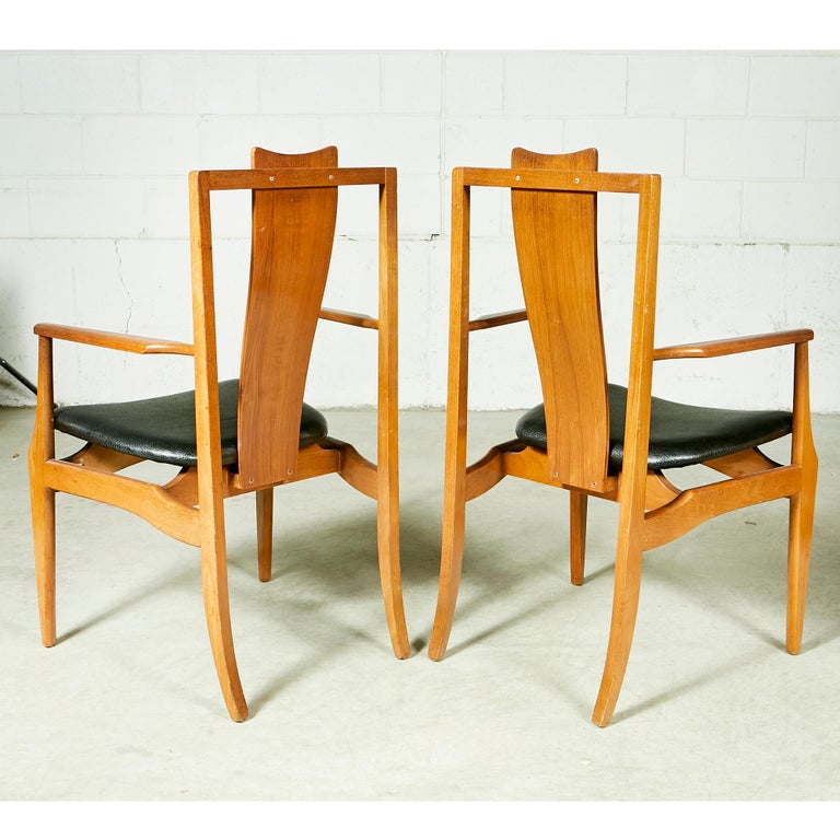 asian dining room chairs | 1960s Asian-Style Dining Room Chairs, Set of 4 For Sale at ...
