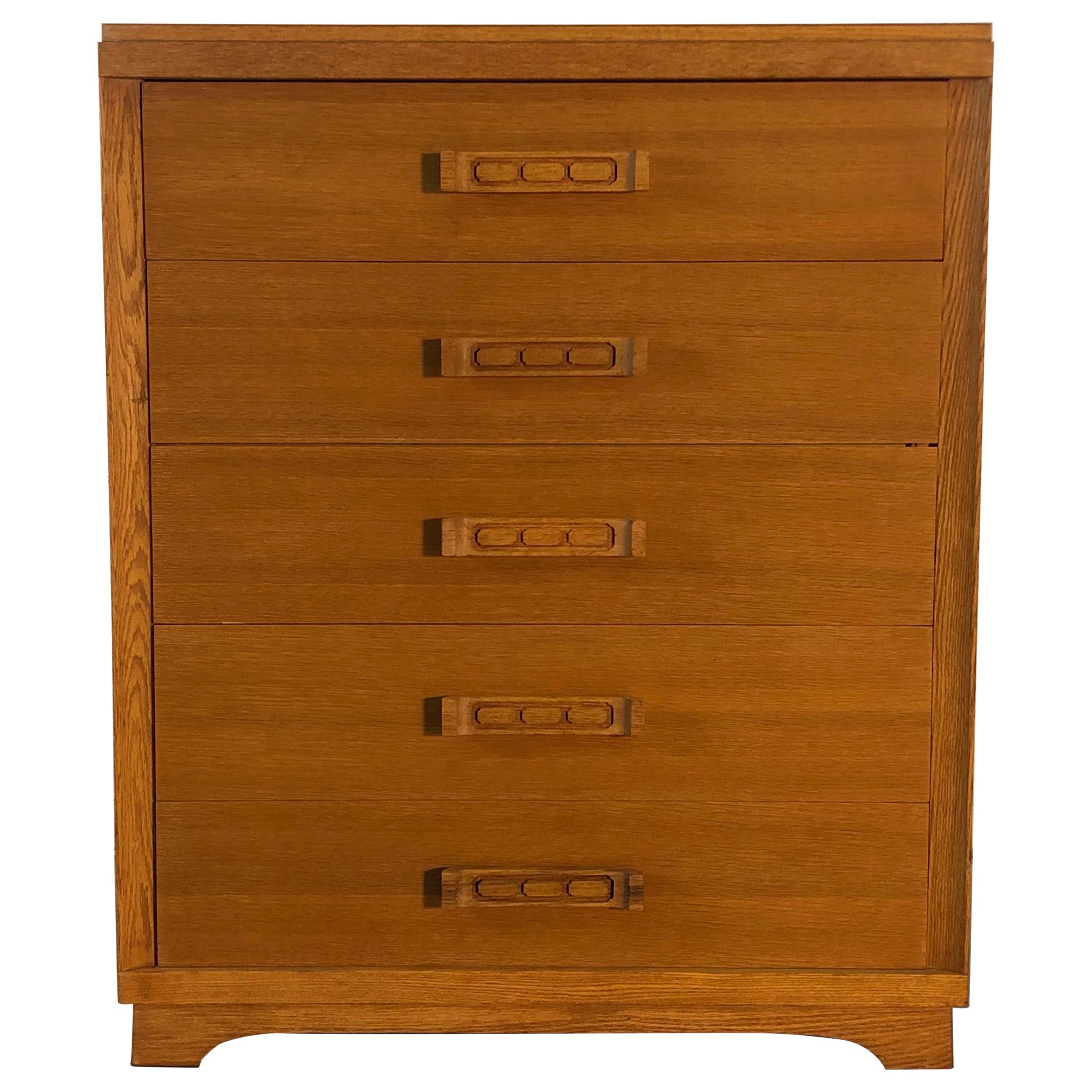 1960s Asian-Style Oakwood Dresser