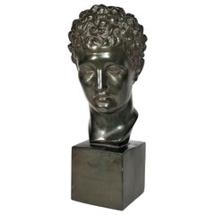 1960s Austin Productions Sculpture Michelangelo's David Bust Signed