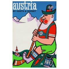 1960s Austria Travel Poster by Harry Stevens Pop Art