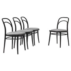 1960s Austrian Wooden Dining Chairs with Upholstered Seats, Set of Four