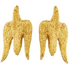 1960s Avian George Braque 18 Karat Earrings