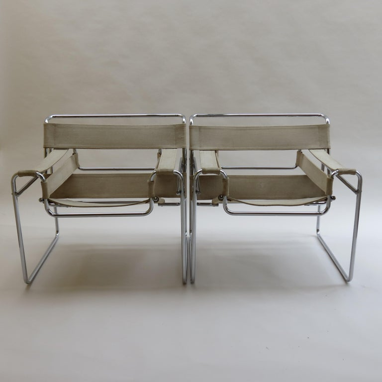 Wassily armchair, designed by Marcel Breuer and manufactured by Gavina, Italy in the 1960s, original year of design 1925. Gavina produced the Wassily chair under licence between 1962 and 1968, then Knoll purchased the Gavina company and took over