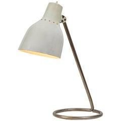 1960s BAG Turgi White Table Lamp