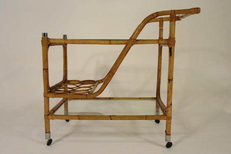 1960er Jahre Bambus Bar Wagen Im Angebot Bei 1stdibs