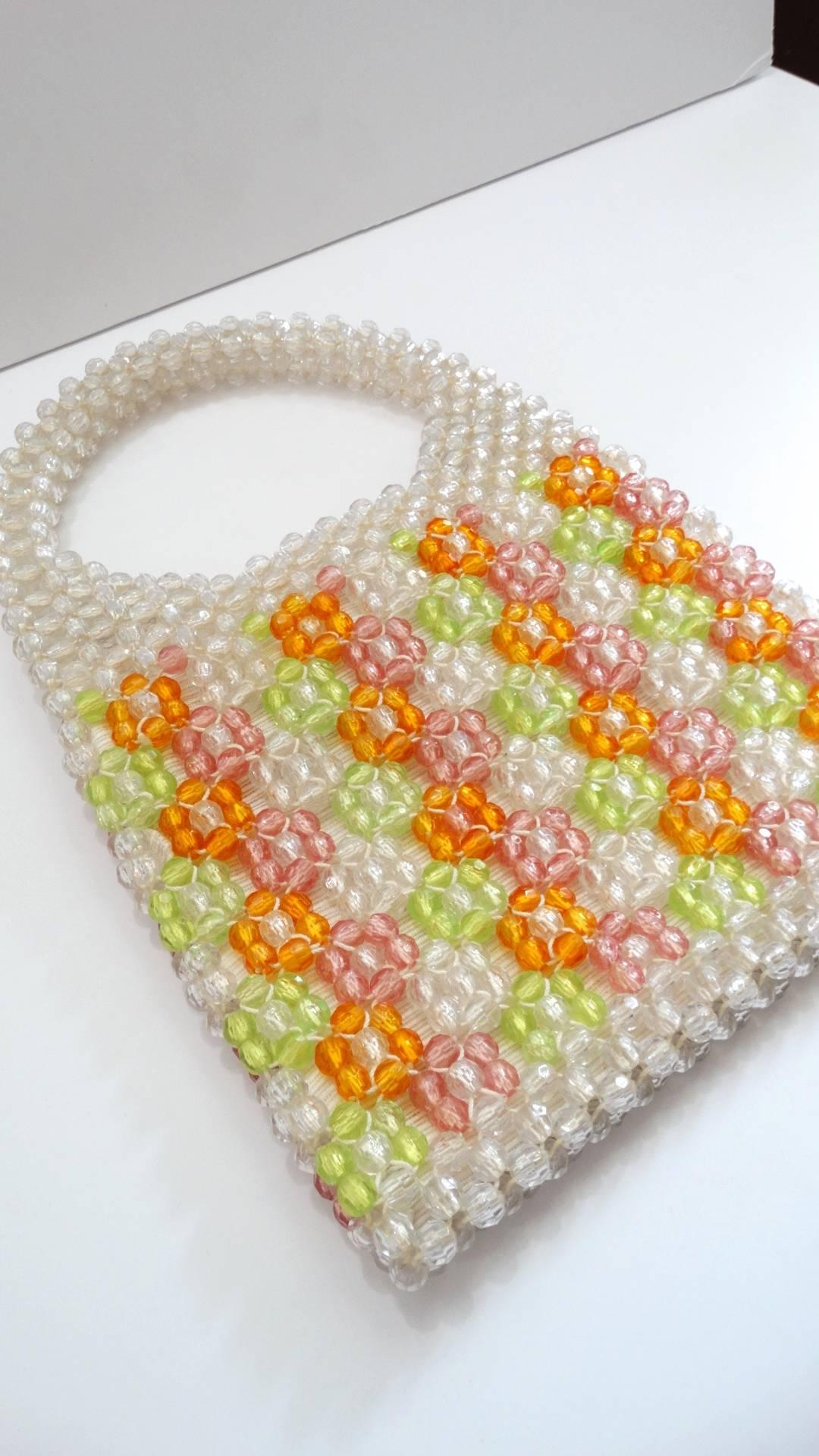 1stdibs Barbara Lee Multi-colored Beaded Bag, 1960s
