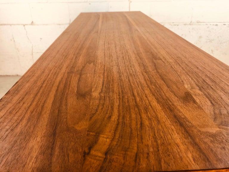 1960s Bassett Furniture Walnut Low Dresser For Sale 4