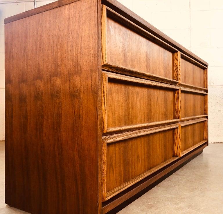1960s Bassett Furniture Walnut Low Dresser For Sale 5