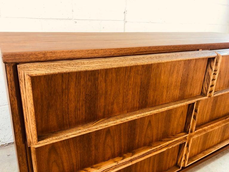 20th Century 1960s Bassett Furniture Walnut Low Dresser For Sale