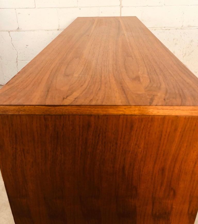 1960s Bassett Furniture Walnut Low Dresser For Sale 1