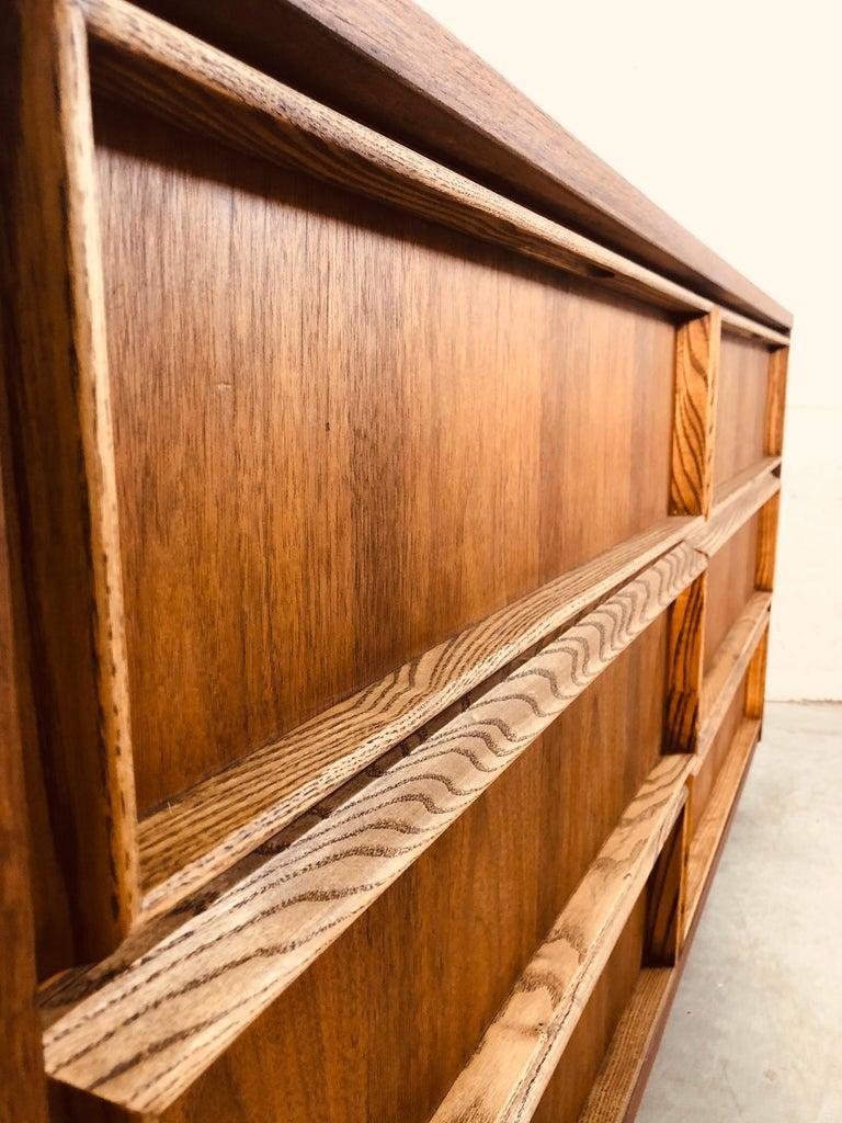 1960s Bassett Furniture Walnut Low Dresser For Sale 2