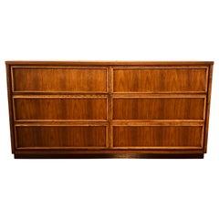 1960s Bassett Furniture Walnut Low Dresser