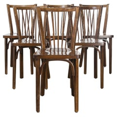 1960's Baumann Bentwood Classic Stickback Bistro Dining Chair, Set of Six