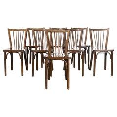 1960's Baumann Bentwood Classic Stickback Bistro Dining Chair, Set of Twelve