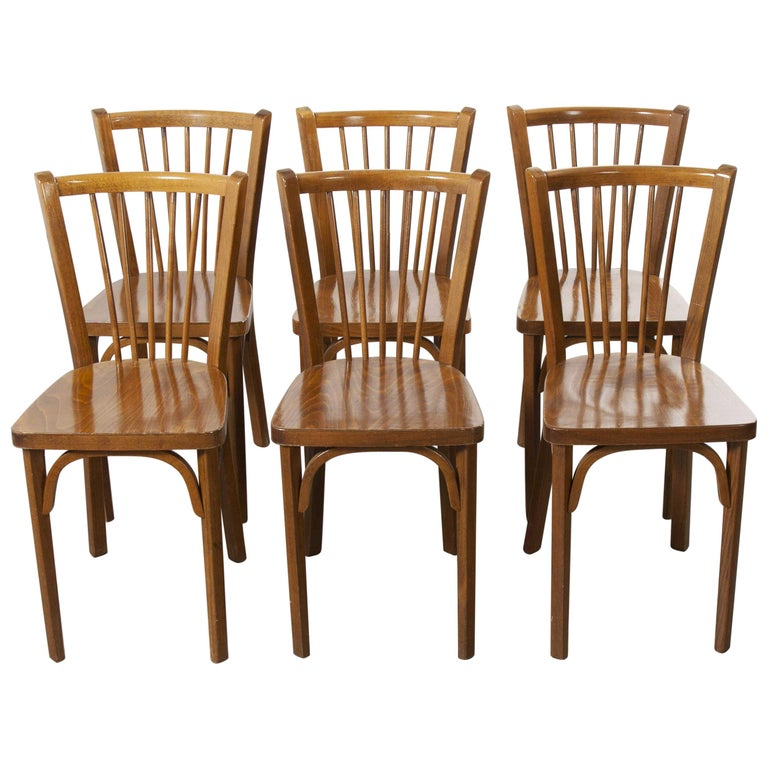 1960 S Baumann French Bentwood Classic Bistro Dining Chair Set Of Six For Sale At 1stdibs