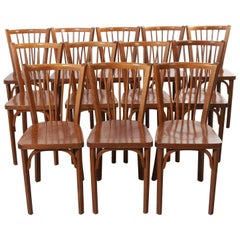 1960s Baumann French Bentwood Classic Bistro Dining Chair, Set of Twelve