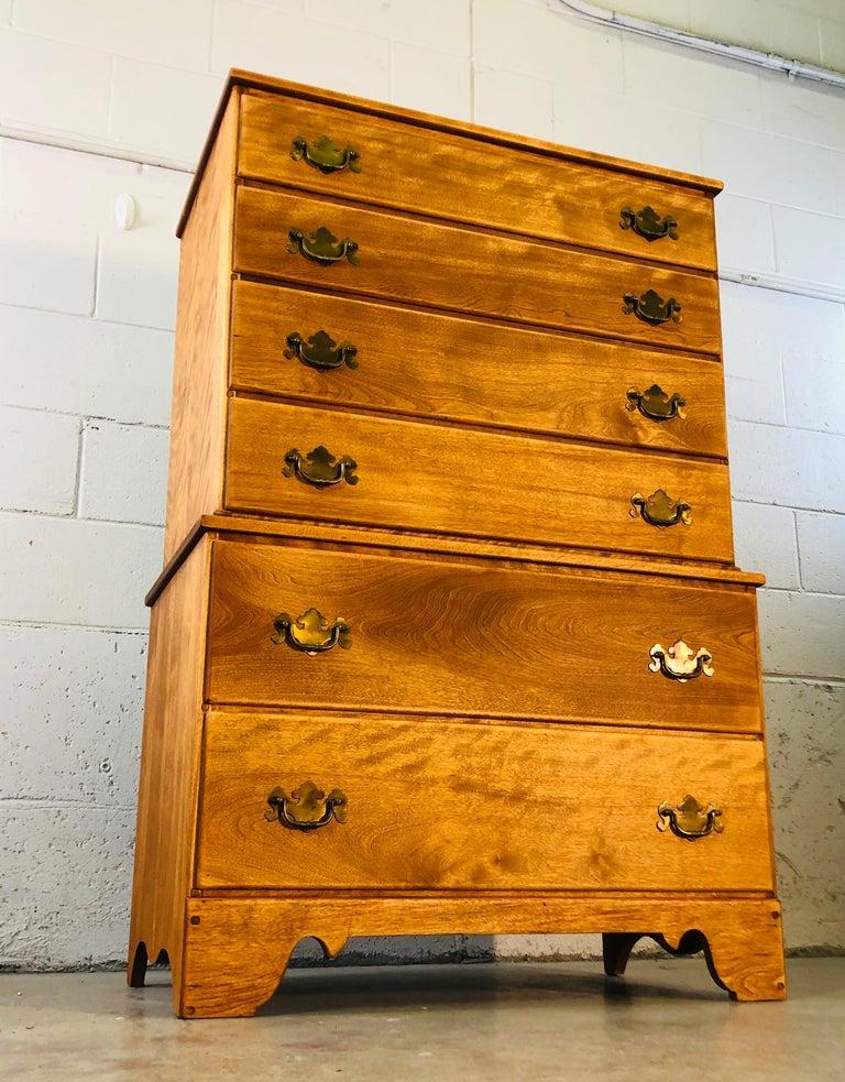 1960s Baumritter Maple Wood Tall Dresser 5