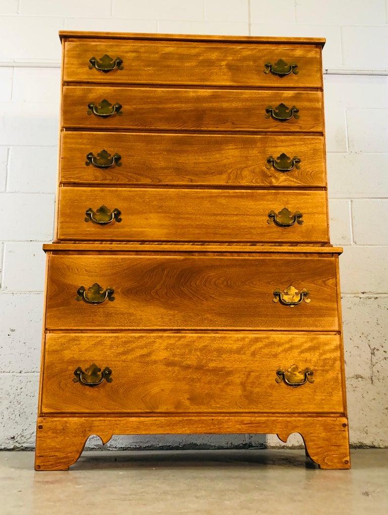 1960s Baumritter Maple Wood Tall Dresser 6