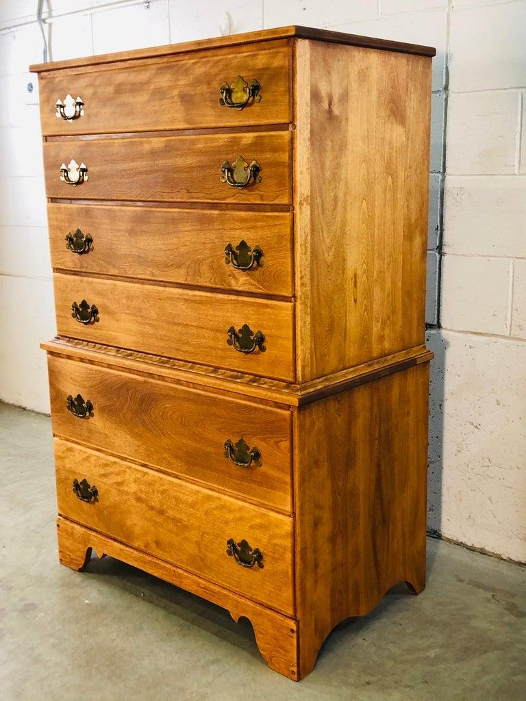 Mid-Century Modern 1960s Baumritter Maple Wood Tall Dresser