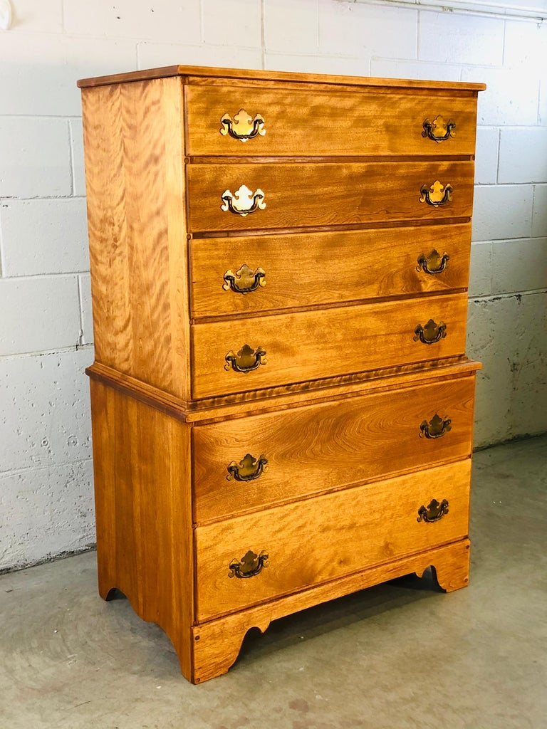 1960s Baumritter Maple Wood Tall Dresser In Good Condition In Amherst, NH