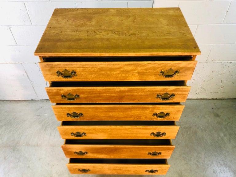 1960s Baumritter Maple Wood Tall Dresser 2