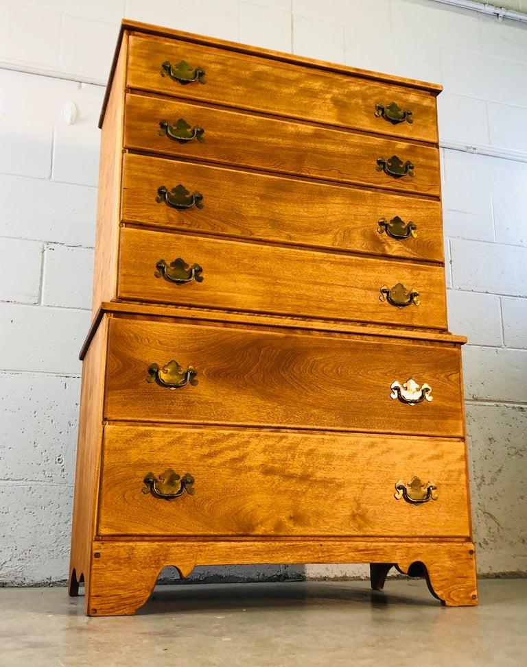 1960s Baumritter Maple Wood Tall Dresser 4