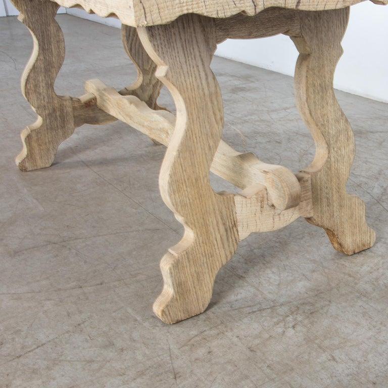1960s Belgian Bleached Oak Coffee Table For Sale 2