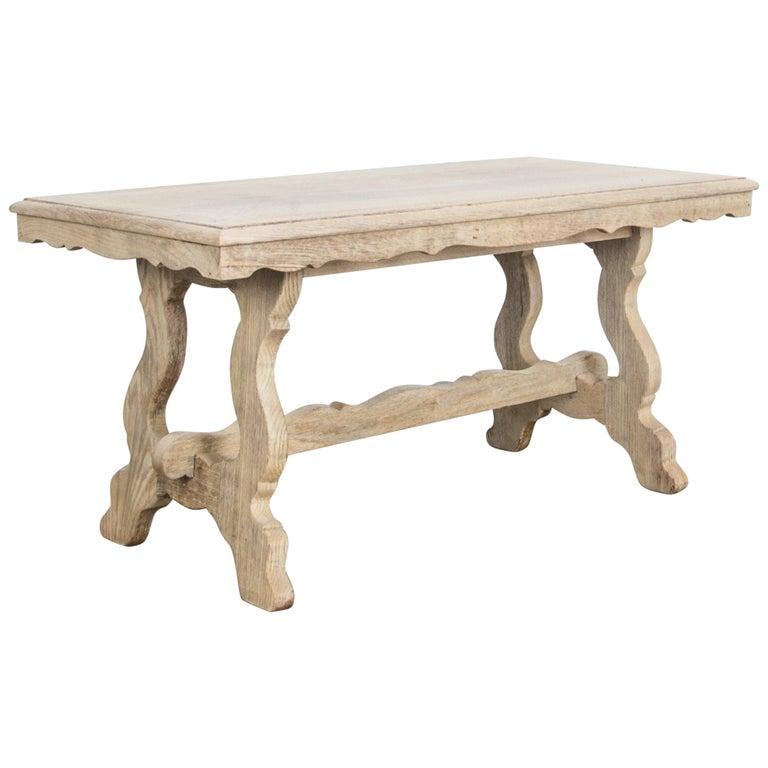 1960s Belgian Bleached Oak Coffee Table For Sale