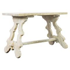 1960s Belgian Bleached Oak Coffee Table