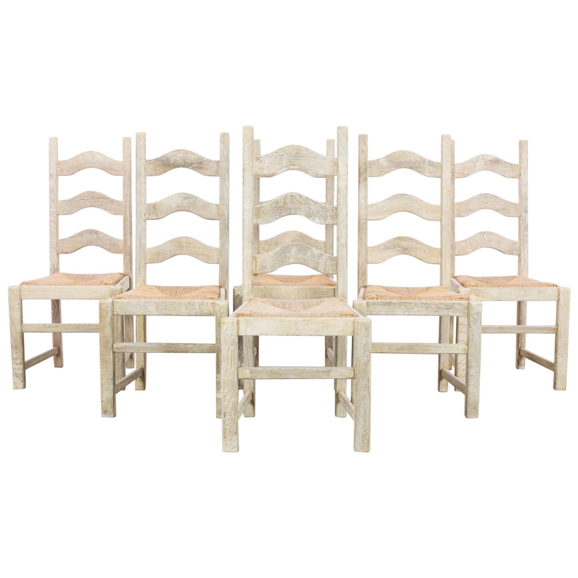 1960s Belgian Dining Chairs, Set of Six
