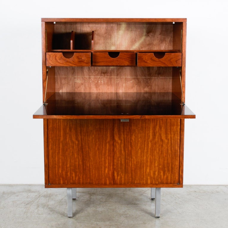 Mid-Century Modern 1960s Belgian Teak Secretary Cabinet by Alfred Hendrickx For Sale